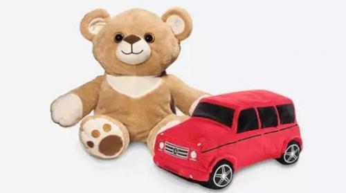 柔软可爱的小熊/g级越野车变形玩具