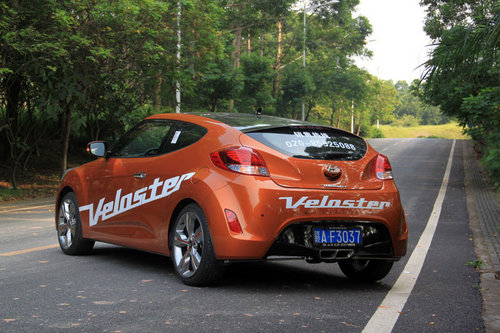 拉风小跑车 试驾现代飞思Veloster