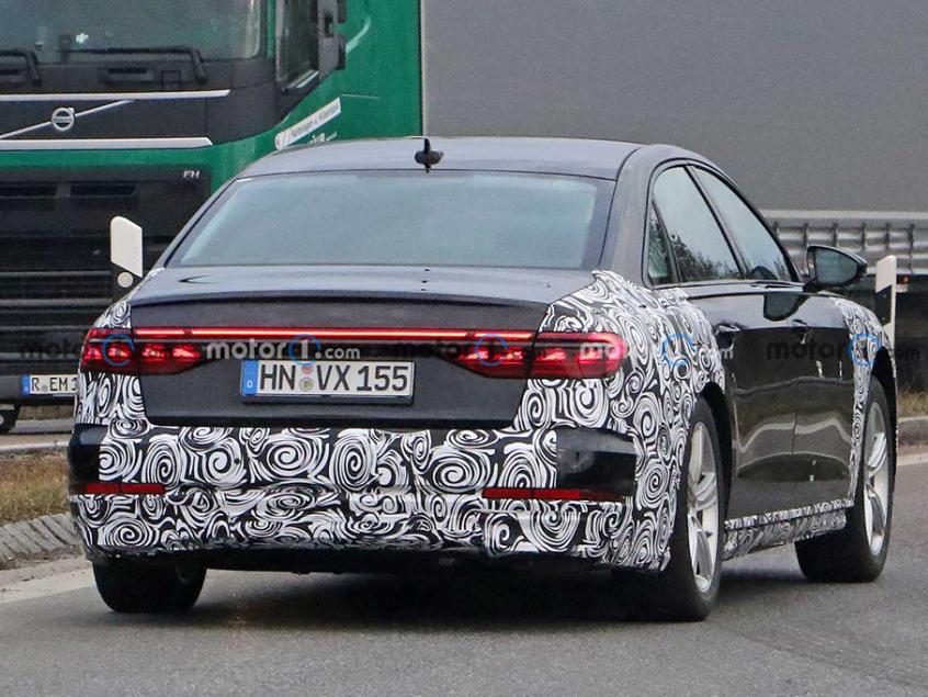 新款奥迪A8车型谍照 将今年下半年发布